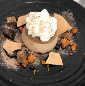 Dessert with honeycomb at Guyers House Restaurant