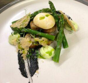 Savoury dish at Guyers House Restaurant
