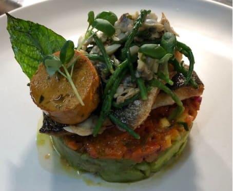 Fish dish at Guyers House Restaurant