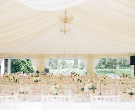Outdoor gazebo for wedding ceremonies at Guyers House Hotel