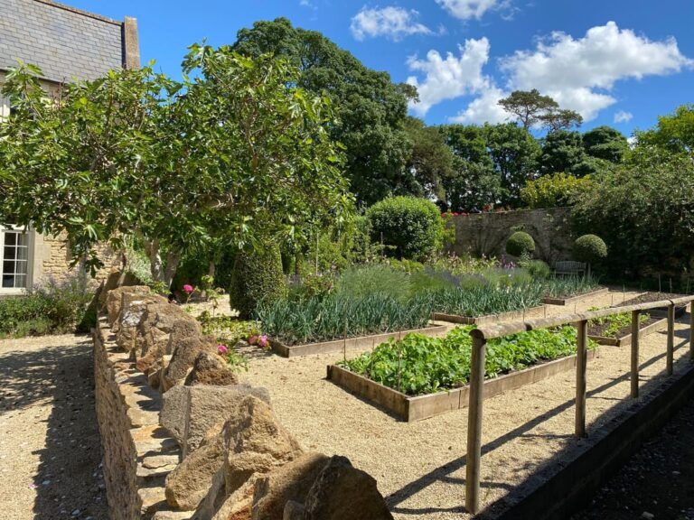 Walled gardens and allotment area at Guyers House