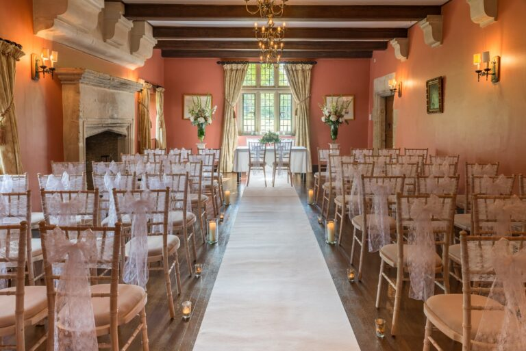 Ballroom Ceremony area for weddings at Guyers House Hotel